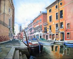 Vegetable barges, Venice - click here to see an enlargement
