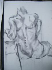 Life drawing no 3 - click here to see an enlargement