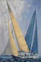 Yachts passing - click here to see an enlargement
