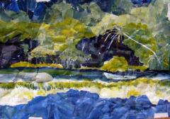 After Peter Doig, with a nod to Alexander Cozens. - click here to see an enlargement