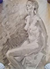 A.B. Seated Nude no.2 - click here to see an enlargement