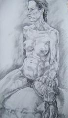 Nude Charcoal Drawing no.2 - click here to see an enlargement (opens a new window in front of this page)
