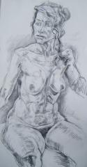 Nude Charcoal Drawing no.1 - click here to see an enlargement (opens a new window in front of this page)