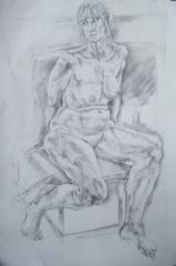 Nude Charcoal Drawing no.3 - click here to see an enlargement (opens a new window in front of this page)