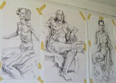 Some life-size drawings - click here to see an enlargement (opens a new window in front of this page)
