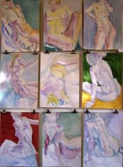 'Short pose sketches' - click here to see an enlargement (opens a new window in front of this page)