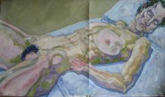 Lying nude no.1 - click here to see an enlargement (opens a new window in front of this page)