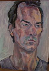 Portrait of  Dave. Acrylic in the morning... - click here to see an enlargement (opens a new window in front of this page)