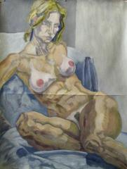 seated nude M. no.2 - click here to see an enlargement (opens a new window in front of this page)
